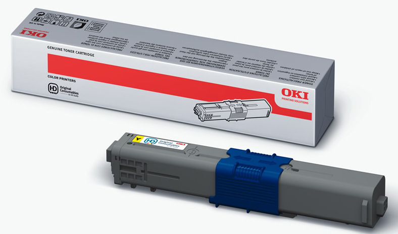 Genuine Oki (OK44469704) Yellow Toner Cartridge (44469704)