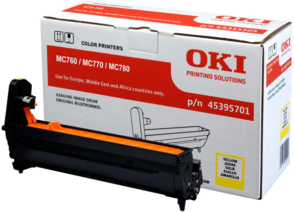 Genuine Oki (OK45395701) Yellow Image Drum  (45395701)