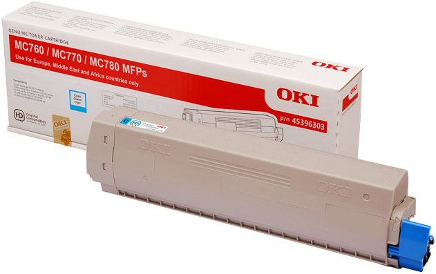 Genuine Oki (OK45396303) Cyan Toner Cartridge (45396303)