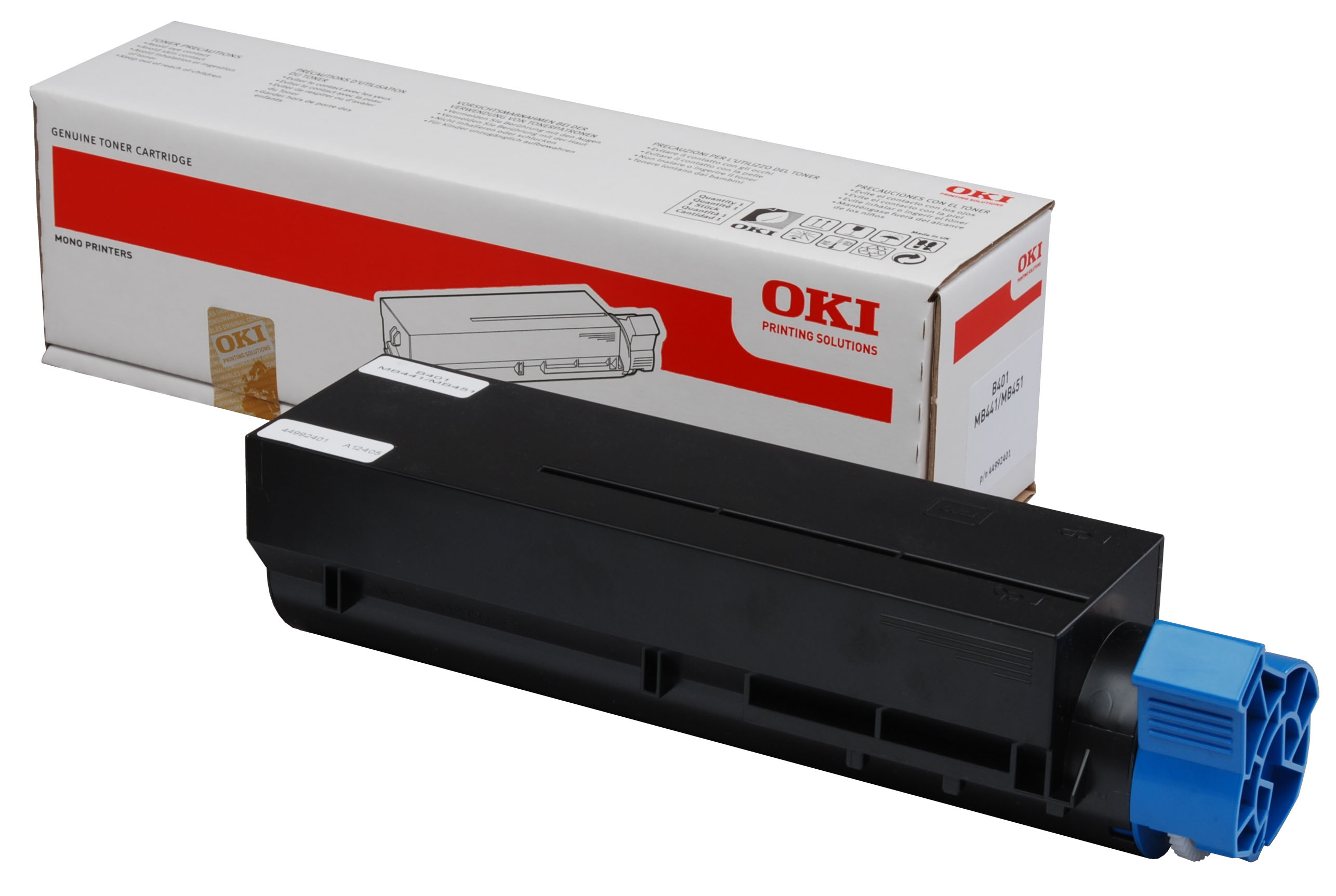 Genuine Oki (OK45807102) Black Toner Cartridge (45807102)