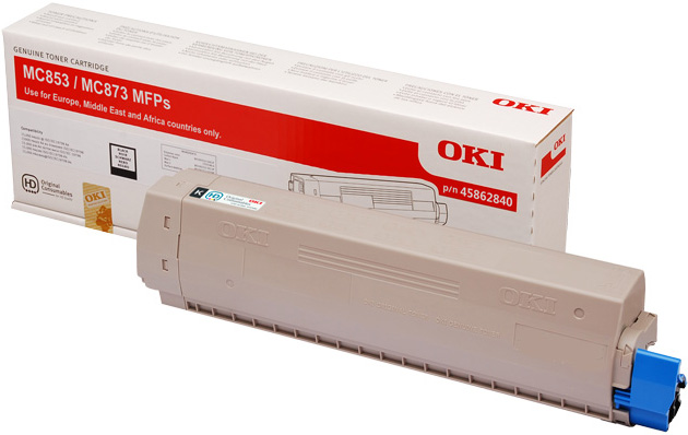 Genuine Oki (OK45862840) Black Toner Cartridge (45862840)