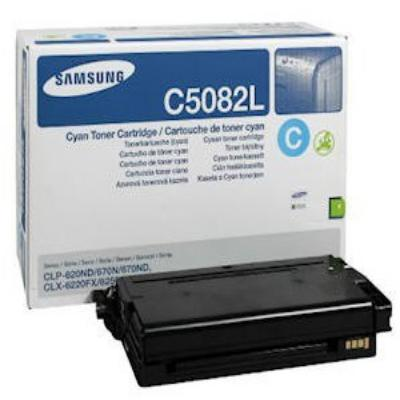 Genuine Samsung CLT-C5082L Cyan High Capacity Toner Cartridge (SAMCLT-C5082LCOEM)