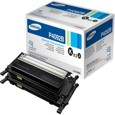 Genuine Samsung CLT-P4092B Twin Pack Toner Cartridge (SAMCLT-P4092BBKTWINOEM)