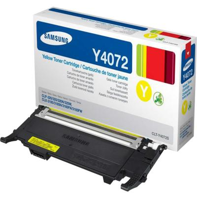 Genuine Samsung CLT-Y4072S Yellow Toner Cartridge (SAMCLT-Y4072SYOEM)