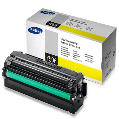 Genuine Samsung CLT-Y506L Yellow High Capacity Toner Cartridge (SAMCLT-Y506LYOEM)