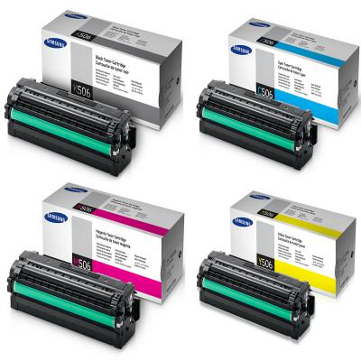 Genuine Samsung CLT-506L BK/C/M/Y High Capacity Multi Pack Toner Cartridge (SAMCLT506LBKCMYMULTIOEM)